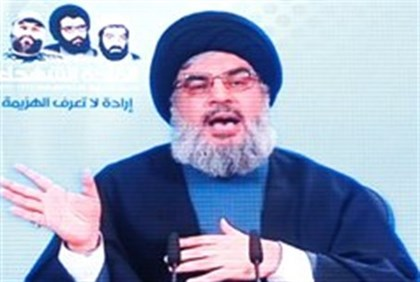 Hassan Nasrallah video speech at rally