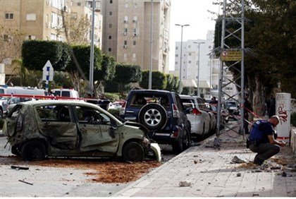 Aftermath of rocket attack in Ashdod