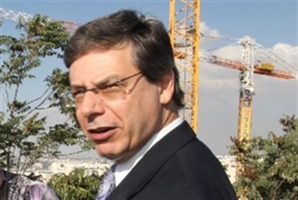 Danny Ayalon at Gilo building site in southern Jerusalem