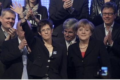 Merkel with Local Candidate