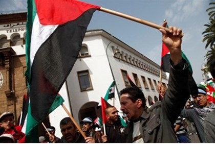 Palestinian Authority flag-wavers