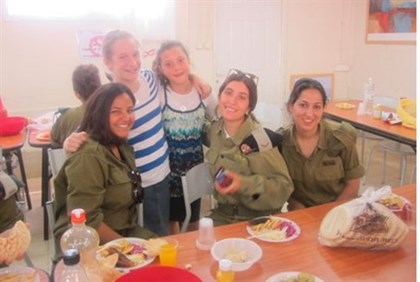 Bringing Independence Day to Ofer base from Young Israel