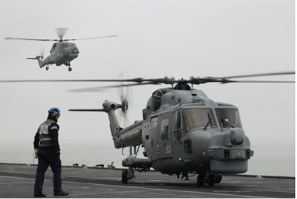 British Naval Helicopters (Illustration)