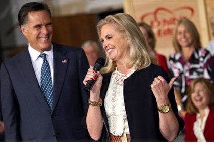 Ann Romney on the campaign trail for her husband