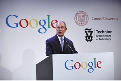 Mayor Bloomberg at Google press conference