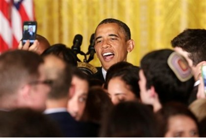 Obama greets Jews at White House