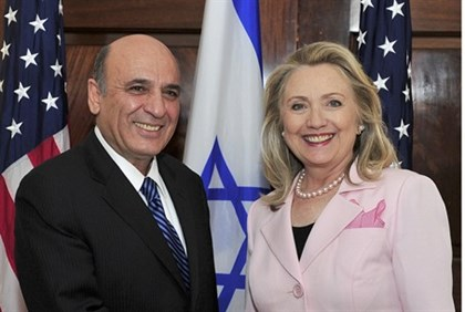 Mofaz and Clinton meet in Washington