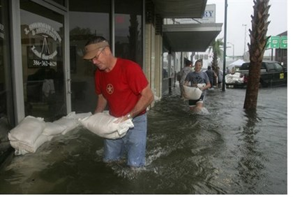 Flooding in Live Oak, Florida on June 26 / illustrative