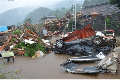 Flooding destroyed towns in southwestern Japan