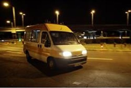 Ambulance evacuates Israelis to a hospital