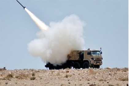 missile launched during military exercise by Syrian air defense forces