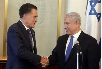 Romney meets with Netanyahu in Jerusalem