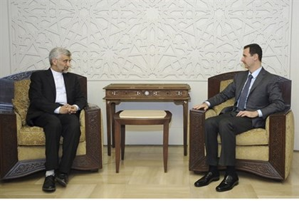 Assad meets Iran's Supreme National Security Council secretary Saeed Jalili