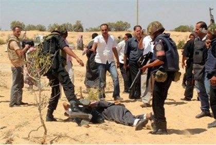 Egyptian security forces arrest suspected terrorist in  the Sinai