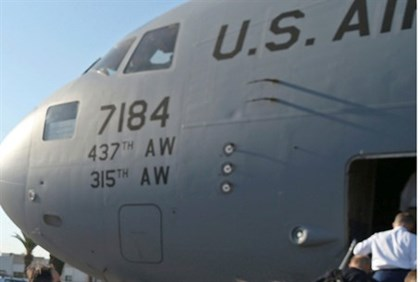 US Air Force C-17 plane