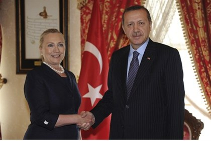 Clinton with Erdogan