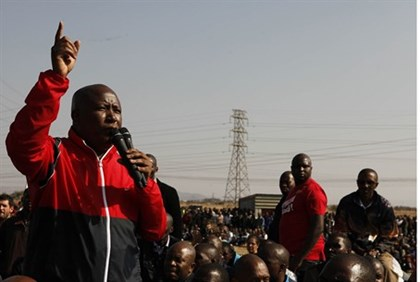 Malema with miners