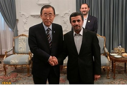 'Help solve Mideast problems': Ban and Ahmadinejad