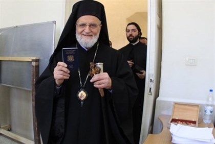 Patriarch Gregory III Laham, pictured in February 2012