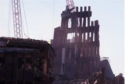 Ruins of the Twin Towers of the World Trade Center