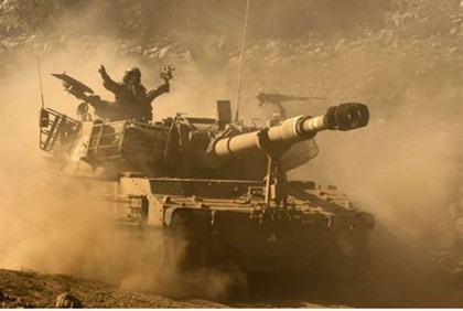 Israel carries out a weapons drill in the Golan Heights