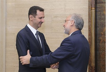 Syrian President Assad meets with FIranian FM Salehi in Damascus