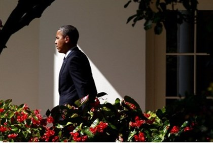 Obama near Oval Office