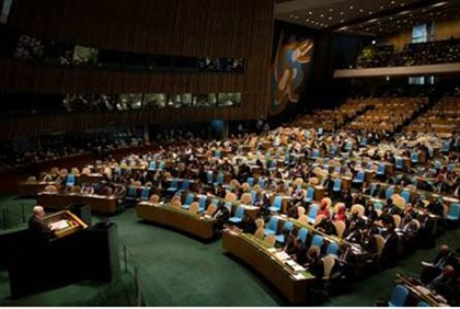 Abbas addresses the 67th United Nations General Assembly at the U.N. Headquarters
