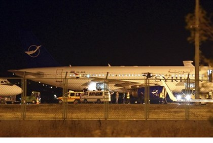 Syrian passenger plane forced to land in Ankara