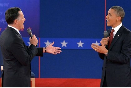 Obama and Romney in second debate