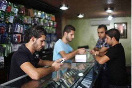 iphones being sold in Gaza