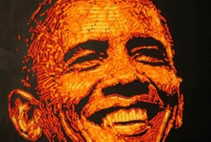 s Cheetos Fans Select Obama as 'Commander in Cheese' Based on Presidential Portraits Made Entirely o