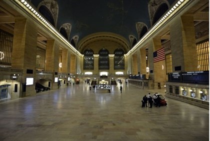 The last people are cleared out of Grand Central Station