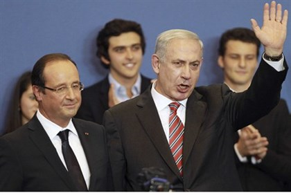 Hollande and Netanyahu in France