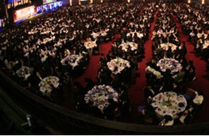Banquet at Chabad emissaries' conference 2011