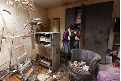 A home in Sderot damaged by a rocket