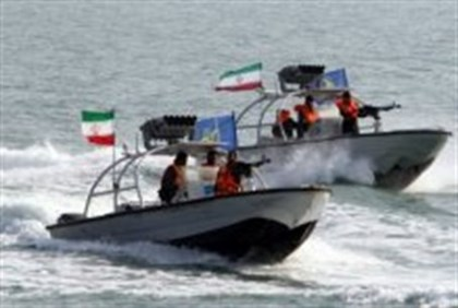 File picture shows Iranian Revolutionary Guards' naval vessels