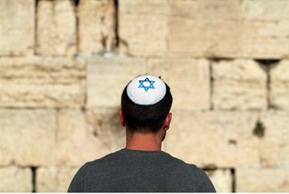 Jewish man at kotel