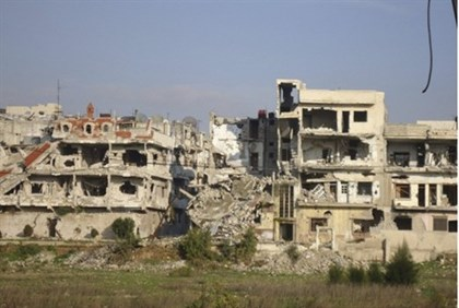 Bombed out buildings in Syria