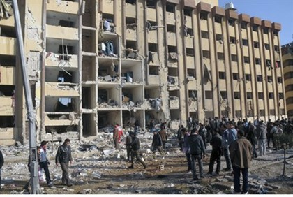 Site of University of Aleppo explosion