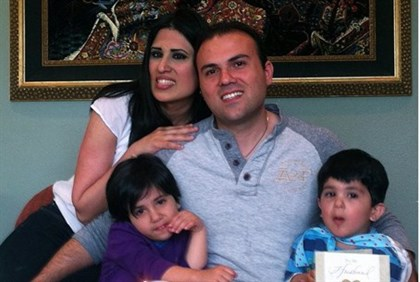 Iranian-American Christian pastor Saeed Abedini with his wife Naghmeh and their two children