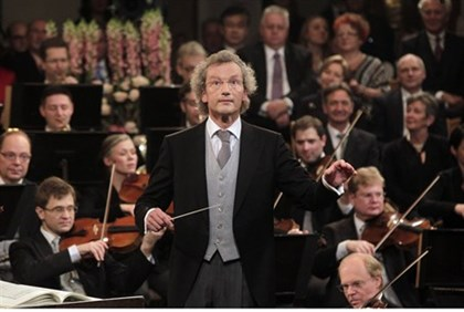 Maestro Franz Welser-Moest conducts the Vienna Philharmonic Orchestra