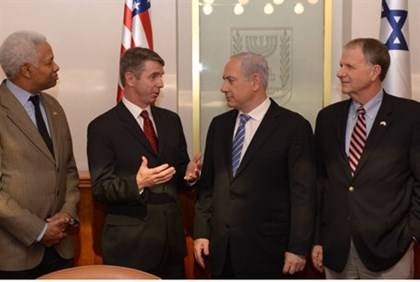 Netanyahu meets with a delegation of Congressmen headed by Rob Wittman