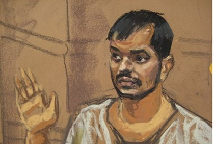Illustration of Quazi Mohammad Rezwanul Ahsan Nafis appearing in court
