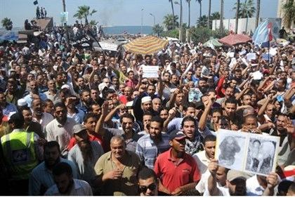 Egyptians demonstrate against anti-Islam film in Alexandria