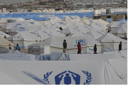 Za'atri tent city for Syrian refugees in Jordan