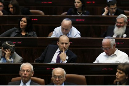 MK Bennett in the Knesset plenum.