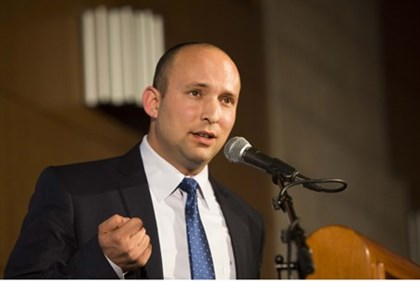Bennett speaks during Bayit Yehudi conference