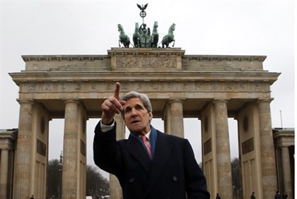 John Kerry is on his first official trip as Secretary of State
