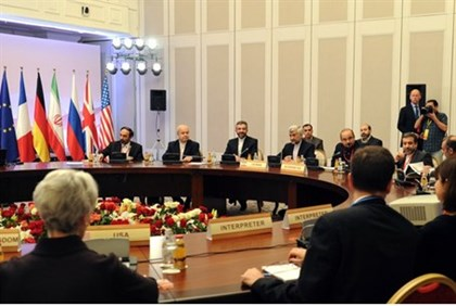 Iran's representatives take part in talks in Almaty